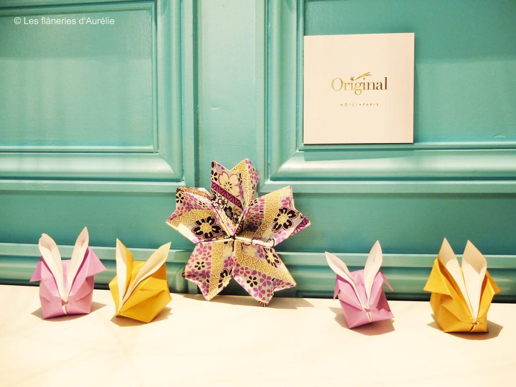 Origami dans l'univers onirique de l'Hôtel Original